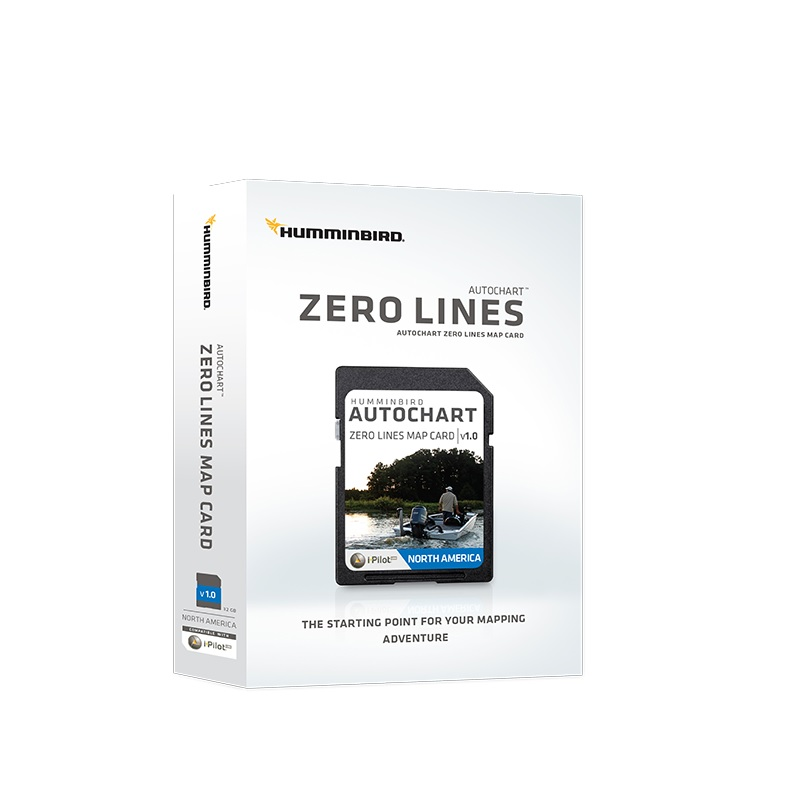 Humminbird ZeroLines Map SD karte (Eiropa)