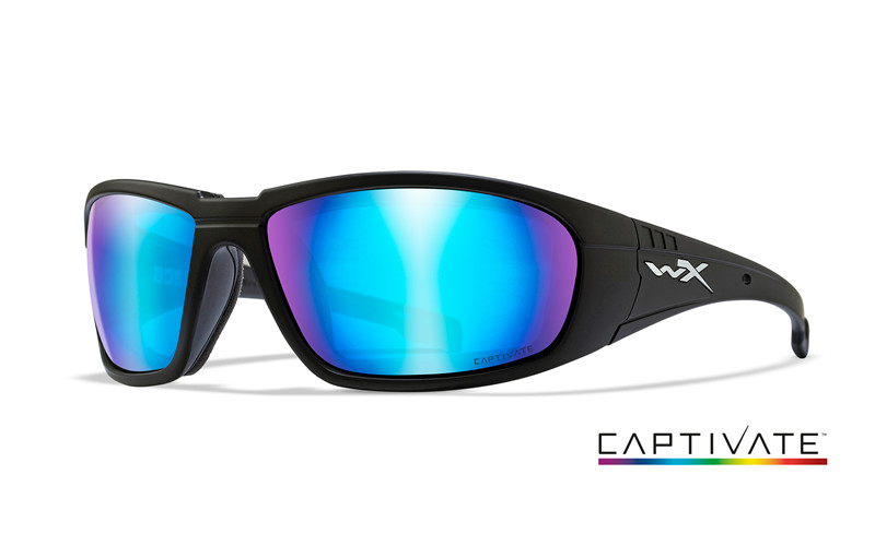 Saulesbrilles WILEY X BOSS CAPTIVATE BLUE MIRROR MATTE BLACK FRAME CCBOS09
